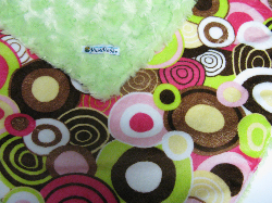Lime /w balloon party minky - 'Lankie - Regular $20