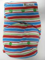 Chez Ami Summer Stripe /w turquoise cotton velour - T&T multi-size