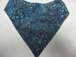 SALE! Blue Leaf Batik - Bandana Bib