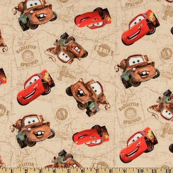 "1.5yd x 44"" Radiator Springs - WOVEN fabric"