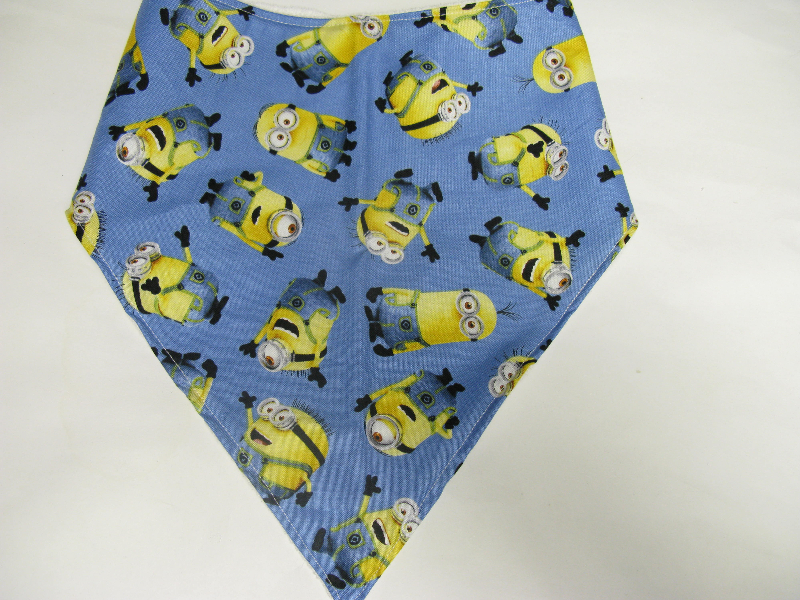 SALE! Blue Minion - Bandana Bib