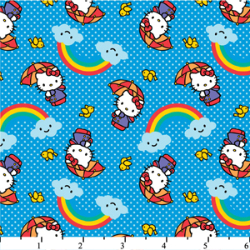 "2.3yd x 42"" Umbrella Hello Kitty - WOVEN fabric"