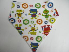 SALES! Robots knit - Bandana Bib