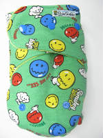 Smiley World (imported) /w lemon organic bamboo velour - T&T multi-size