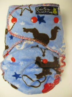 Giddy Up Minky /w organic bamboo velour - serged multi-size
