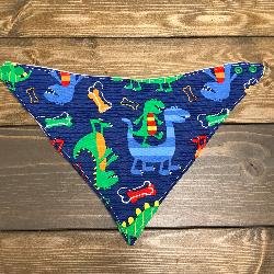 SALE! Blue Dino - Bandana Dribble Bib