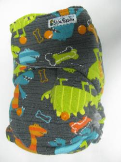 Grey Dino Dudes /w grey cotton velour - T&T multi-size