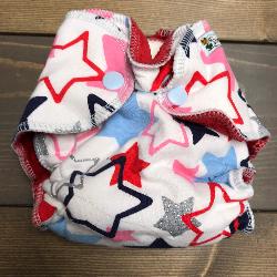Stars /w red cotton velour - newborn