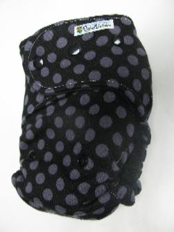 Black Dot /w black cotton velour - T&T multi-size