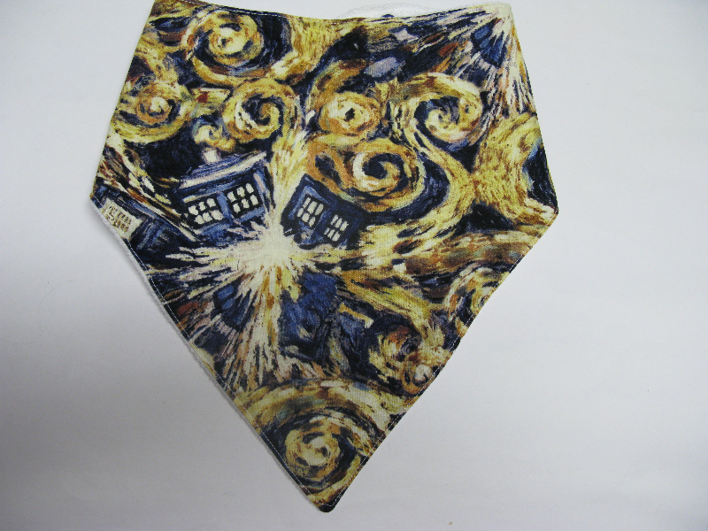 SALE! Dr. Who Tardis Painting - Bandana Bib