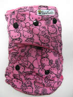Pink Hello Kitty Poses /w fuchsia cotton velour - T&T multi-size