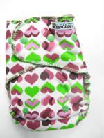 Plum Hearts /w raspberry cotton velour - serged multi-size