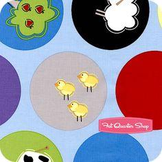 "2.3yd x 43"" Farm Bubbles - WOVEN fabric"
