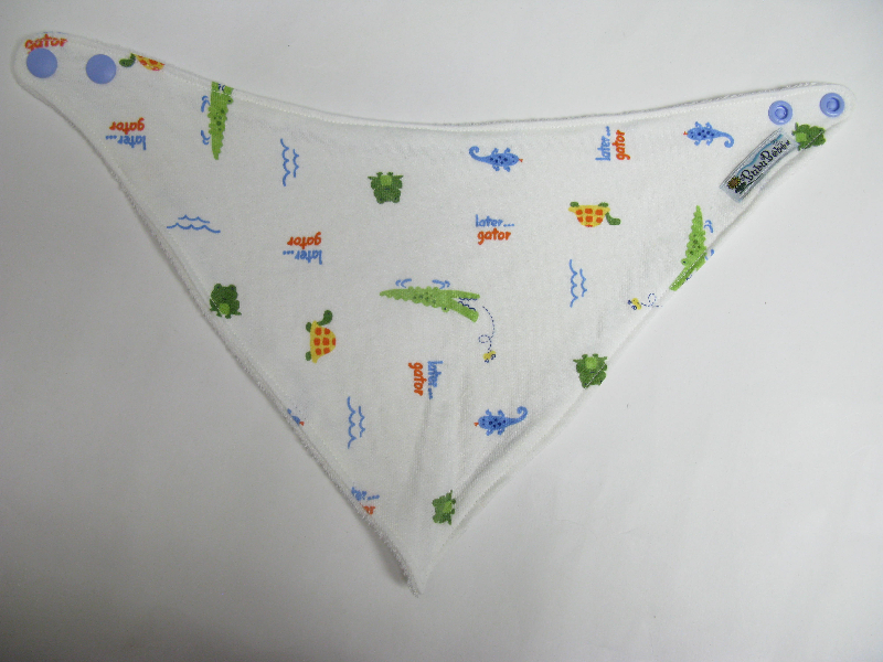 SALE! Later Gator knit - Bandana Dribble Bib