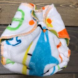 Transportation Minky /w lime cotton velour - newborn
