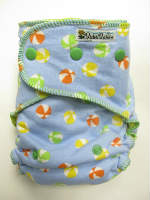 Beach Balls /w yellow cotton velour - serged multi-size