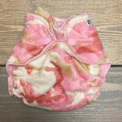 Pink Camo Minky /w pink organic bamboo velour - newborn