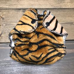 Tiger Minky /w organic bamboo velour - newborn