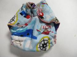 Pirate Minky /w blue cotton velour - newborn
