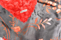 Red /w Asian Floral Satin - 'Lankie - Regular $20