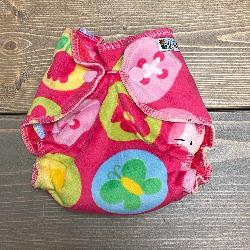 Hello Kitty Minky /w fuschia cotton velour - newborn