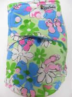 Flip Flops /w turquoise cotton velour - T&T multi-size