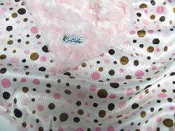 Pink /w pink dot satin - 'Lankie - Regular $20