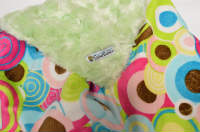 Lime /w Aqua Balloon Party Minky - 'Lankie - Regular $20
