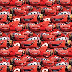 """20"""" x 44"""" Lightning McQueen - WOVEN fabric"""
