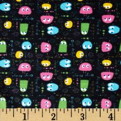 """3yd x 60"""" Black Ooga Booga - MINKY fabric"""