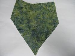 SALE! Green Swirl Batik - Bandana Bib