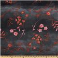 "18x18"" Asian Floral - SATIN fabric"