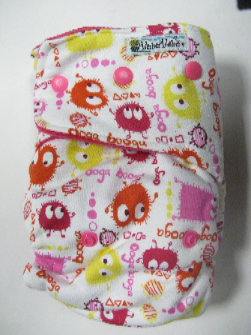 Pink Ooga /w pink cotton velour - T&T multi-size