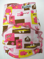 OVERSIZE!  Pink Zoo /w pink cotton velour - OVERSIZE multi-size REGULAR fitted