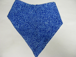 SALE! Blue Swirl Batik - Bandana Bib