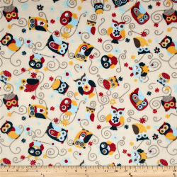 "5.4yd x 60"" Nested Owls - MINKY fabric"