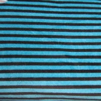 "1.6yd x 60"" Teal Stripe - Cotton VELOUR fabric"