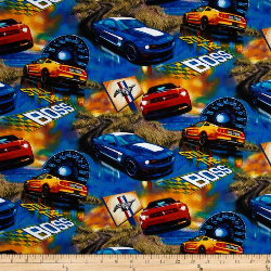Ford Mustang Boss - WOVEN fabric