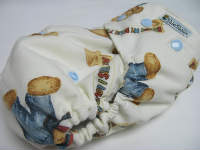 Blue Jean Teddy Toss /w denim cotton velour - Designer Woven Hidden PUL Ai2