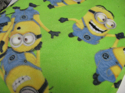 "Green Minions - Fleece Blanket 60x72"" - Regular $35"