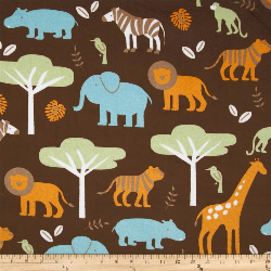"18x18"" Jungle - MINKY fabric"