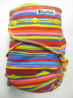 Fiesta Stripe /w orange cotton velour - serged multi-size