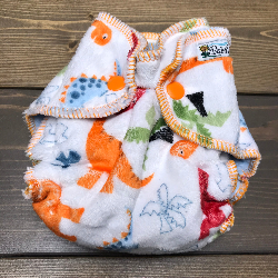 Dino Minky /w blue cotton velour- newborn
