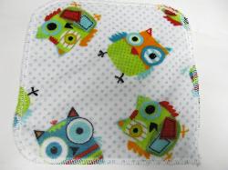 Owls Minky/Velour Wipe