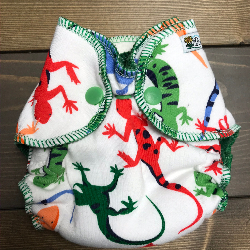 Geckos /w green cotton velour - newborn