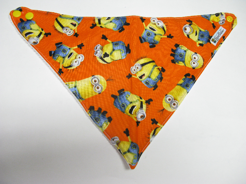 SALE! Minions Orange - Bandana Dribble Bib