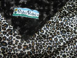 Dark Chocolate /w Cheetah Satin - 'Lankie - Regular $20