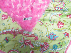 Fuschia /w sweetpea minky - 'Lankie - Regular $20
