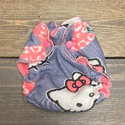 Hello Kitty /w bubblegum organic bamboo velour - newborn