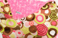 Hot Pink /w Pink & Lime Balloon Party Minky - 'Lankie - Regular $20